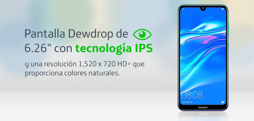 Huawei Y7 2019 Twilight Detalle Producto 1