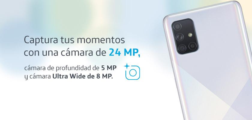 Samsung Galaxy A71 Negro detalle 1