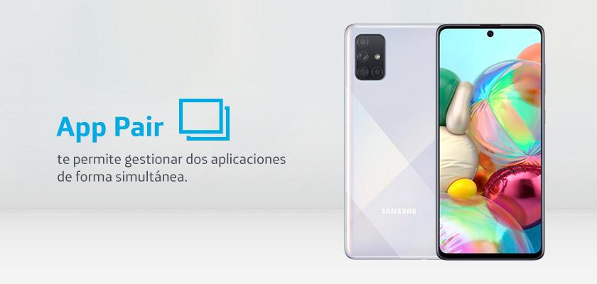 Samsung Galaxy A71 Negro detalle 2