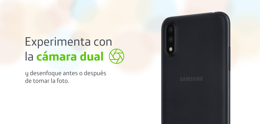 Samsung Galaxy A01 Negro detalle 2