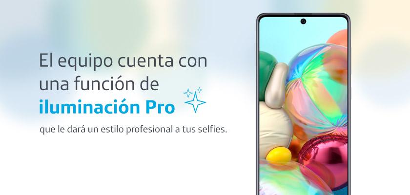 Samsung Galaxy A71 Negro detalle 3