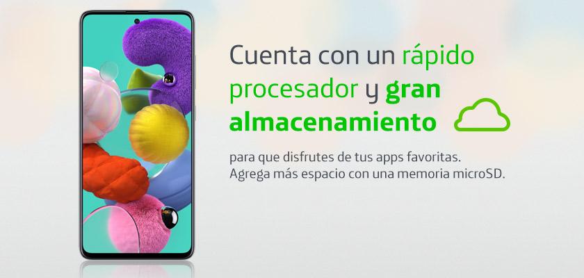 Samsung Galaxy A51 128 GB Blanco Detalle Producto 1