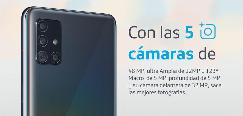 Samsung Galaxy A51 128 GB Blanco Detalle Producto 3