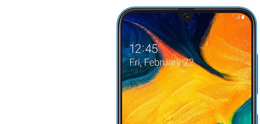 Samsung Galaxy A30 32 GB Azul Detalle Producto 3