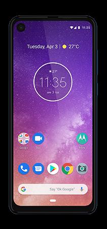 Motorola One Vision 128 GB Azul Frontal