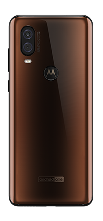 Motorola One Vision 128 GB Moka - Trasera