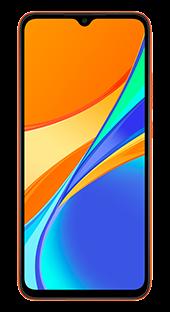 Xiaomi Redmi 9C 32 GB Naranja Frontal