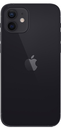 Apple iPhone 12 64GB Negro Trasera