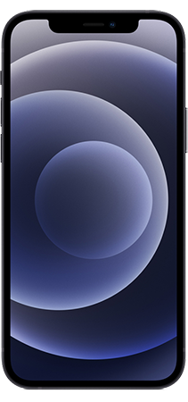 Apple iPhone 12 64GB Negro Frontal