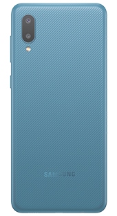Samsung Galaxy A02 32 GB Azul Trasera