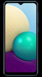 Samsung Galaxy A02 32 GB Azul Frontal
