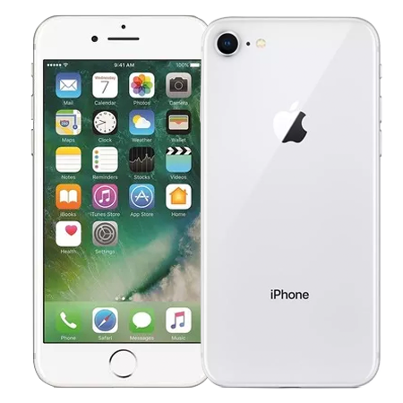 Apple iPhone 8 64 GB Plata Frontal Doble