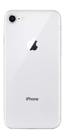 Apple iPhone 8 64 GB Plata Frontal Trasera