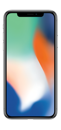 Apple iPhone X 64GB Plata Frontal