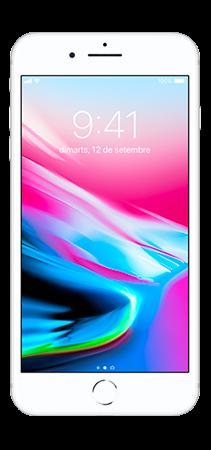 Apple iPhone 8 Plus 64 GB Plata Frontal