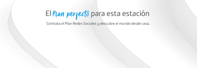 El plan perfecto para esta estación. Contrata el plan Redes Sociales y descubre el mundo desde casa.
